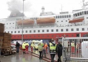 На норвежском круизном лайнере произошел пожар: есть жертвы