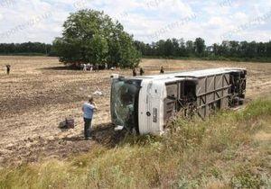 Автобус Донецк - Прага перевернулся из-за упавшего ноутбука - свидетели аварии