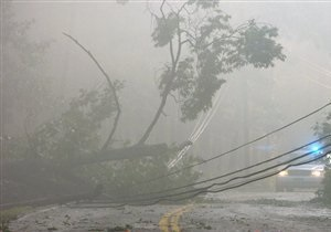 Ураган Айрин обрушился на Нью-Йорк