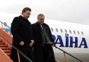 Президент Янукович впервые отбыл в Россию