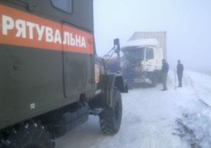 ДТП с участием 13 автомобилей произошло на трассе Киев-Одесса