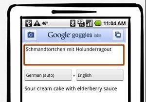 Google оснастит приложение Goggles функцией перевода