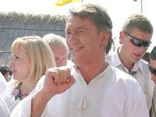 Ющенко уехал в родное село