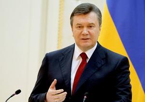 Янукович пожелал украинцам мира, процветания и добра