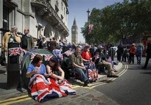 В Лондон съехались 600 тысяч желающих увидеть свадьбу принца Уильяма и Кейт Миддлтон