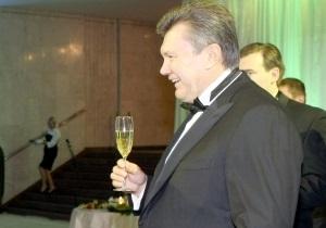 СМИ: Янукович со своими соратниками отгулял корпоратив