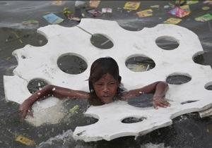 На Филиппины обрушился тайфун: есть жертвы