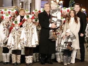 Ющенко с семьей послушал гуцульские колядки