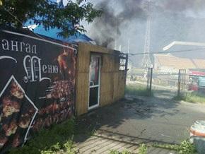 В Киеве на Куреневке сгорело кафе