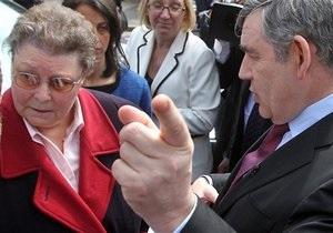 Браун не смог добиться прощения избирательницы, которую обозвал  узколобой теткой