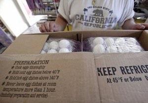 В США зафиксирована вспышка сальмонеллеза. Отзыву подлежат десятки миллионов яиц