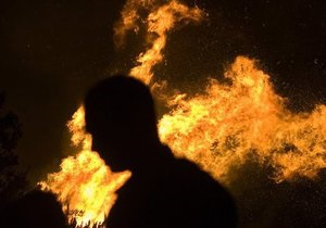 В Псковском кремле произошел сильный пожар