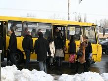 Под стенами киевской мэрии бастуют водители маршруток