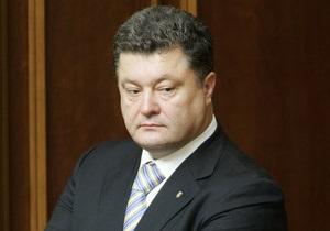 Порошенко призвал отстранить Хорошковского от обязанностей