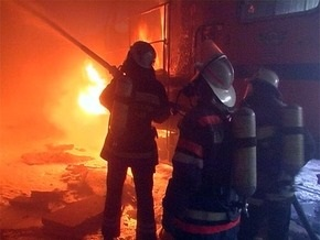 На Печерском рынке Киева произошел пожар