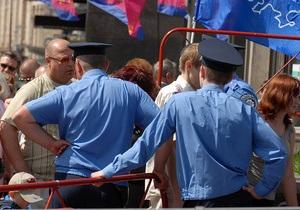 Милиция перекрыла для прохода пешеходов Европейскую площадь в Киеве