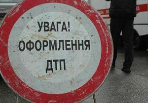 В Киеве на Владимирском спуске столкнулись девять автомобилей