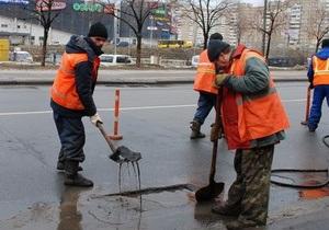 Киевляне смогут следить за ремонтом дорог онлайн