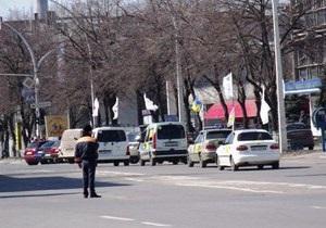 Автомобильный марш протеста не пустили в Днепропетровск