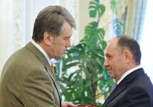 Ющенко наградил Голубченко орденом За заслуги