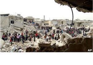 HRW: власти Сирии наносят авиаудары по населению