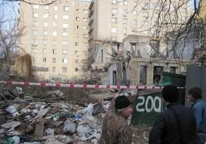 Газета выяснила детали инцидента с обрушением стены в центре Киева