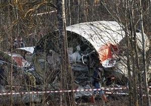 Обломки разбившегося под Смоленском Ту-154 решили накрыть брезентом