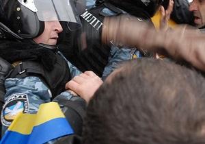 МВД: В ходе протестов под ВР пострадали двое милиционеров