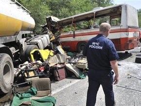 В разбившемся под Ростовом автобусе находились трое украинцев