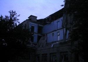 В Донецкой области обрушился лицей
