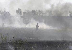 Под Киевом тлеют торфяники. Открытого огня не наблюдается
