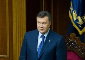 Янукович: Заложенные в Декларации о суверенитете Украины принципы удалось реализовать