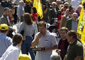 В Мадриде всем желающим бесплатно раздали овощи