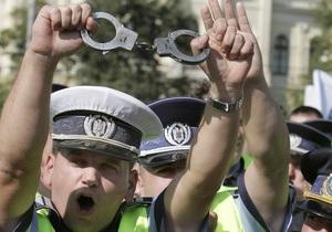 Румынские полицейские вышли на акцию протеста