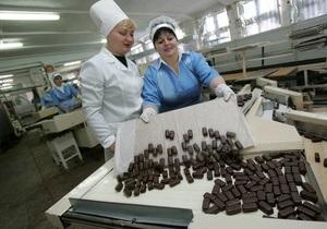Украина резко сократила импорт кондитерских изделий