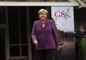 Лидеры G-8 достигли взаимопонимания по вопросам экономики - Меркель