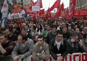 На проспекте Сахарова в Москве завершился митинг оппозиции