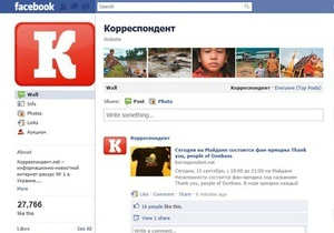 Kорреспондент.net стал лидером среди украинских медиабрендов в Facebook