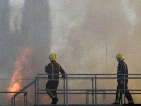 В деловом центре Лондона вспыхнул сильный пожар