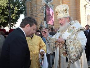Янукович заявил, что патриарх Кирилл заставляет его задуматься