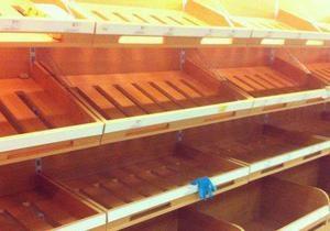 Киевские власти заверяют, что в магазины завозят хлеб