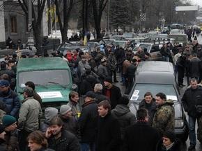 Акция протеста автомобилистов в Киеве будет продолжаться круглосуточно