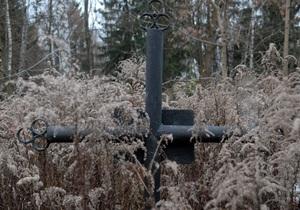 новости Луганской области - вандализм - В Луганской области неизвестные украли бронзовые венки с памятника советским партизанам