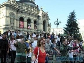 Центр Киева заполонили зомби