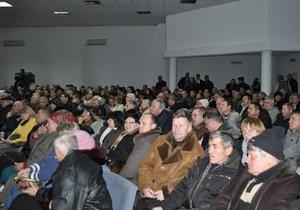 В Донецке число госпитализированных вследствие голодовки чернобыльцев возросло до трех