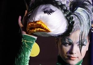 Прическа по-киевски. Завершился 7-й Фестиваль парикмахерского искусства Хрустальный ангел