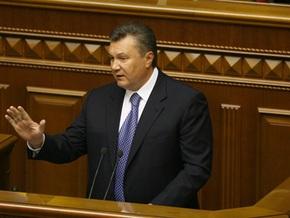 Янукович лично попросил регионалов  не блокировать Раду в понедельник