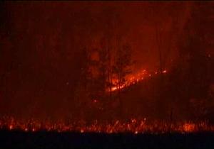 В Сербии бушуют лесные пожары