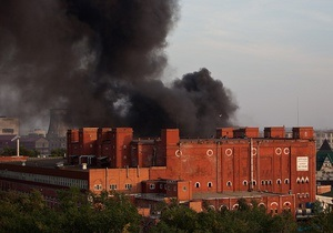 В Москве произошел крупный пожар на мясокомбинате