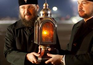 22 декабря в Киев привезут Вифлеемский огонь мира